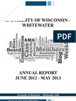 University of Wisconsin - Whitewater 2012-2013 Annual Report