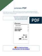 Manual de Instrucciones PIONEER MVH 8350BT S