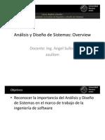 20131ADS1-01---Analisis y Diseño de Sistemas Overview.pdf