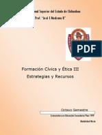 Formacion Civica y Etica Estrategias y Recursos