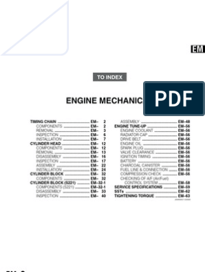 daihatsu k3-vet engine mechanical manual book   Tolerância