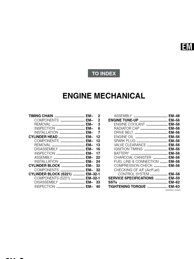 Daihatsu K3 Vet Engine Mechanical Manual Book
