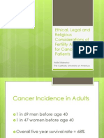 ethics legal and ethcal issues of fertility assistance cancer patients