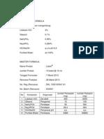 Rancangan Formula Lidokain HCL