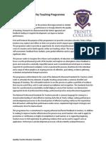 smedley trinity college quality teaching programme