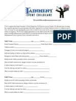 Children Registration Form