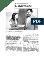 Tageblatt – 10.07.2008 - Geld für die Philanthropie