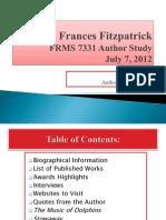 fitzpatrick - author study