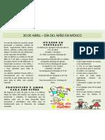 30 de abril - Día del niño en México