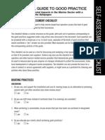 Marine Guide Checklist