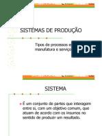 Sistemas de Producao
