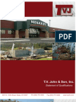 T.V. John & Son, Inc. Statement of Qualifications 130313