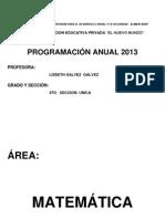 Programacion Anual 4TO GRADO 2013