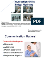 IVMS ICM-Communication Skills in Clinical Medicine-10-17 Updated