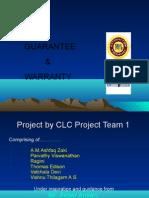 Guarantee and Warranty  presentatiton by zaki and groups