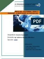 RÉGIMEN ECONÓMICO DE  COLOMBIA, PERÚ Y PANAMÁ