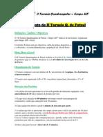 II Torneio Quadrangular de Futsal - Regulamento 5-4-09