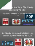 Planilla de Juego 2009