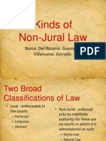 Kinds of Non Jural Law