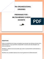 TEORIA ORGANIZACIONAL-ORIGENES (1)