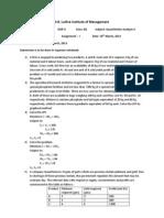 QA II Assignment