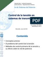 Control de la tensión en sistemas de transmisión v2.0
