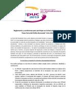 Reglamento y Condiciones Para Participar en La Feria Del Estudiante 2013-I