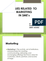 Issues Related to Marketing