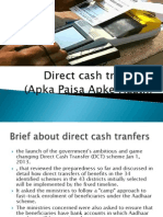 Brief About Direct Cash Tranfers