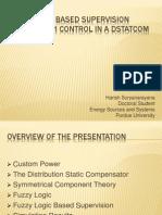 Fuzzy Logic Based Supervision - DSTATCOM
