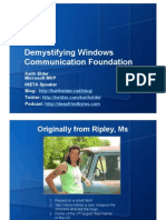 Demystifying Windows Communication Foundation