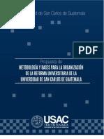 Metodología de Reforma elaborado por el CSU. CODECER, EGRESADOS, STUSC
