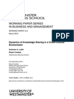 Dynamics of Knowledge Sharing in a Cross-Cultural Environment