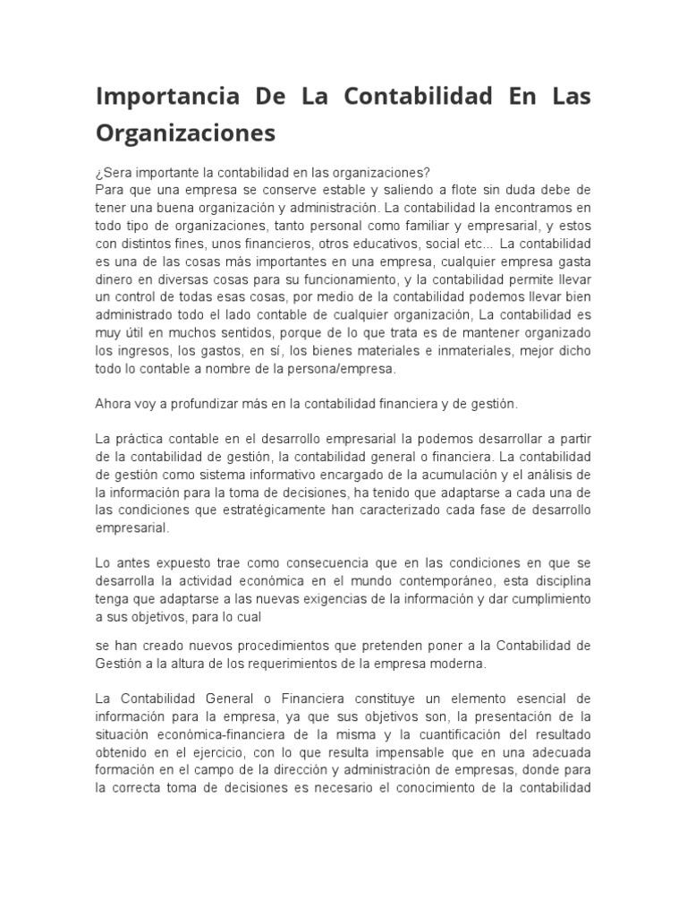 Excelente Objetivo De Resumen De Contabilidad General Colección ...