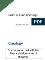 Basics of Fluid Rheology