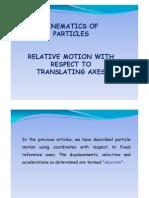 Relative Motion Wrt Translating Axes [Uyumluluk Modu]