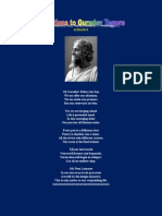Oblations to Gurudev Tagore - English poetry - Subramanian A