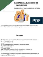 FORMULAS BÁSICAS PARA EL CÁLCULO DE INVENTARIOS
