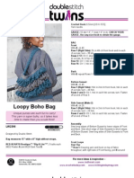 CROCHET - Double Stitch - Loopy Boho Bag