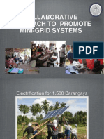 Collaborative Approach to Promote Mini-Grid Systems - Roderick de Castro