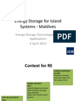 Energy Storage for Island Systems - Maldives - Len George