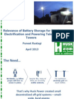 Relevance of Battery Storage for Rural Electrification and Powering Telecom Towers - Puneet Rustagi