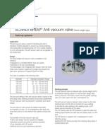 Anti vacuum valve