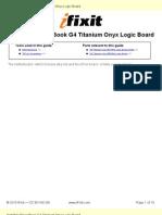 Installing PowerBook G4 Titanium Onyx Logic Board