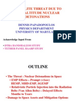Satellite Threat Due to High Altitude Nuclear Detonation - Eisenhower Institute - Papadopoulos-Presentation 280369