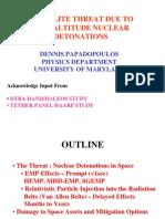 Satellite Threat Due to High Altitude Nuclear Detonation - Eisenhower Institute - Papadopoulos-Presentation 280369