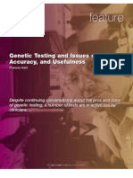 Genetic Testing and Issues of Ethics,