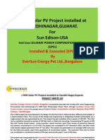 1 MW Solar PV Project Installed