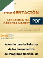 1. Nuevos Lineamientos Carrera'2011 Seccion 30 Del Snte