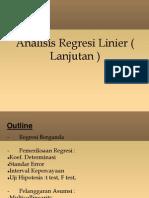 Analisis Regresi Linier ( Lanjutan )